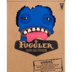 "Fuggler Funny Ugly Monster 9"" OOGAH BOOGAH Blue Felt w/ Tongue Out NEW"