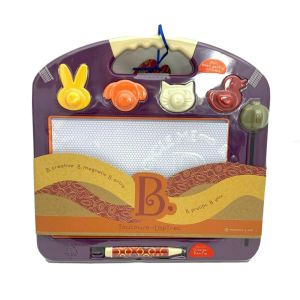 Magnetic Laptop Sketcher B. toys Magnetic Drawing Board- Plum Purple