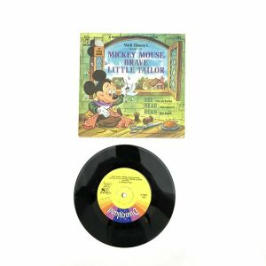 "Disneyland Record & Book: Mickey Mouse, Brave Little Tailor | 1970 7"" 33-1/3rpm"
