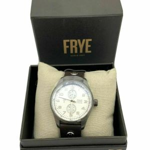 FRYE Mens Bowery S.S. Japanes Watch Quartz Brown Leather Strap 37FR00001-01 NWT