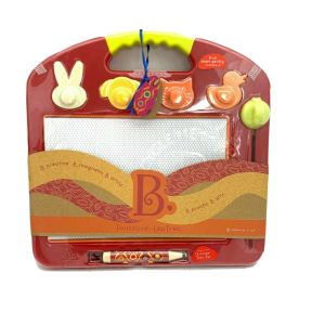 Magnetic Laptop Sketcher B. toys Toulouse Laptrec Magnetic Drawing Board- Red