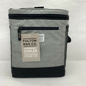 Fulton Bag Co. Hardbody 12 Cans + ICE Cooler w/ Liner & Easy Access Lid- Gray