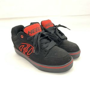 HEELYS MOTIONPLUS Black and Red Youth Size 5 Roller Sneakers, Skate Shoes