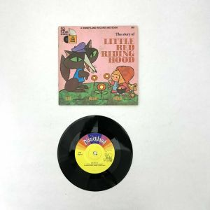"Walt Disney LITTLE RED RIDING HOOD Disneyland Record and Book 7"" 33-1/3rpm 328"