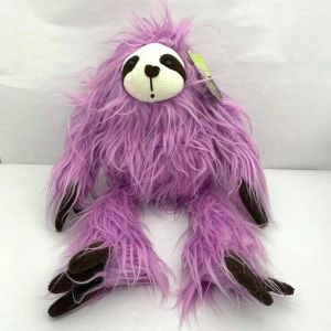 "Adorable Purple Lavender Sloth Plush 18""  Animal Adventure Stuffed Toy NWT"