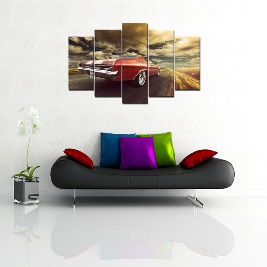 Stylish car wall canvas