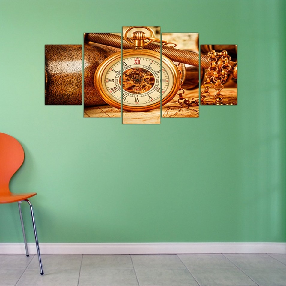 Antique watch Wall canvas