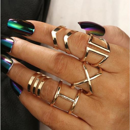 Finger Rings Set 5 PCS