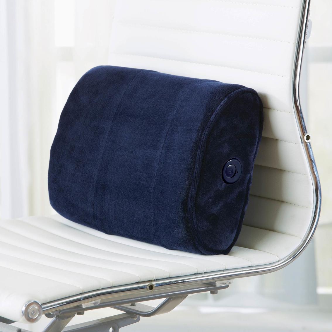 brookstone nap massaging lumbar pillow