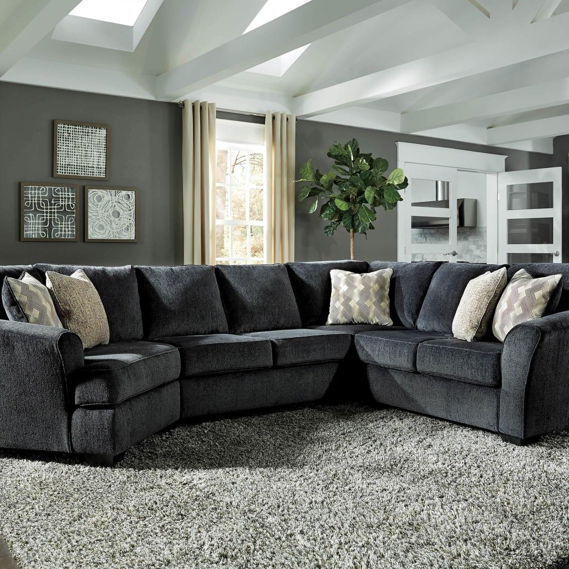 signature design by ashley eltmann 3 pc sectional laf cuddler loveseat raf sofa