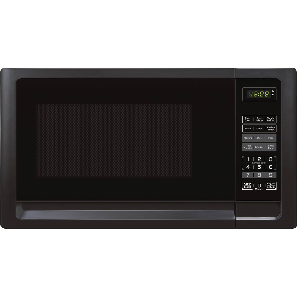 simply perfect 0 7 cu ft microwave oven black