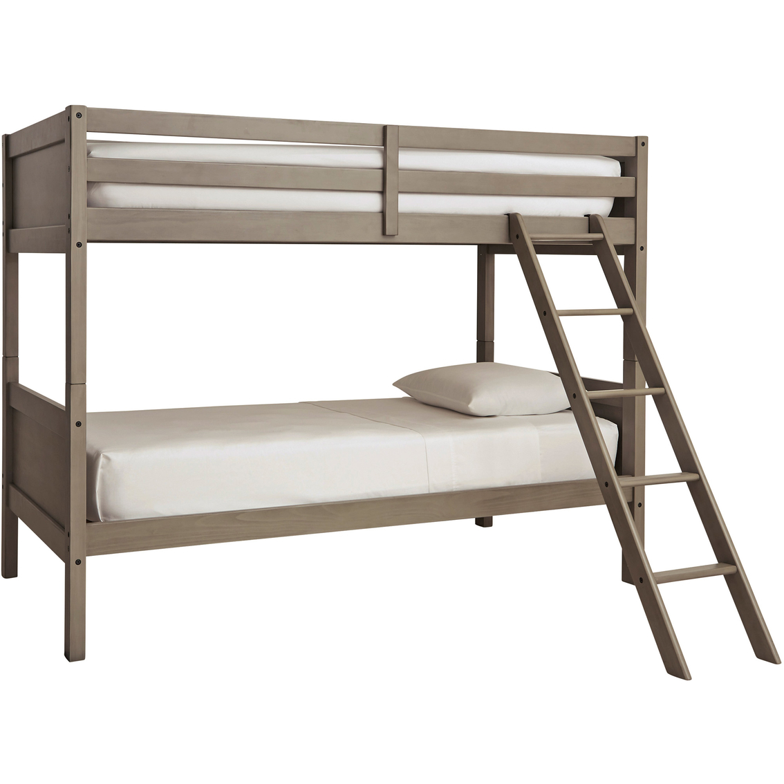 Signature Design By Ashley Lettner Twin Over Twin Bunk Bed With Ladder Beds Furniture Appliances Shop The Exchange