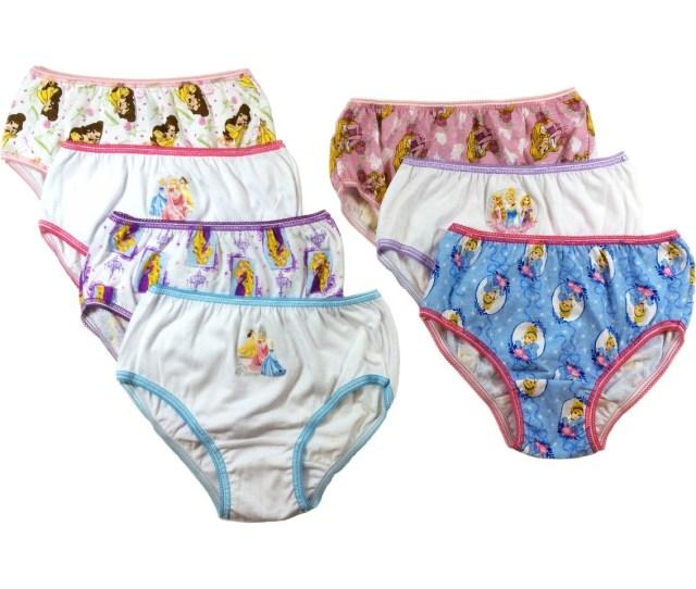 Disney Little Girls Girls Princess Panties 7 Pk