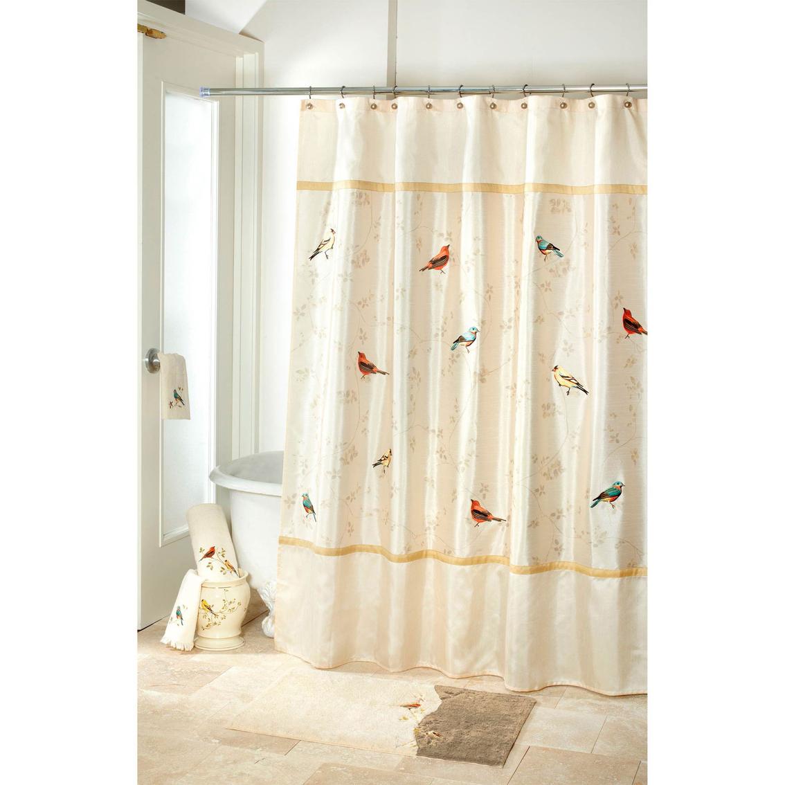 Avanti Gilded Birds Shower Curtain Shower Curtains Hooks