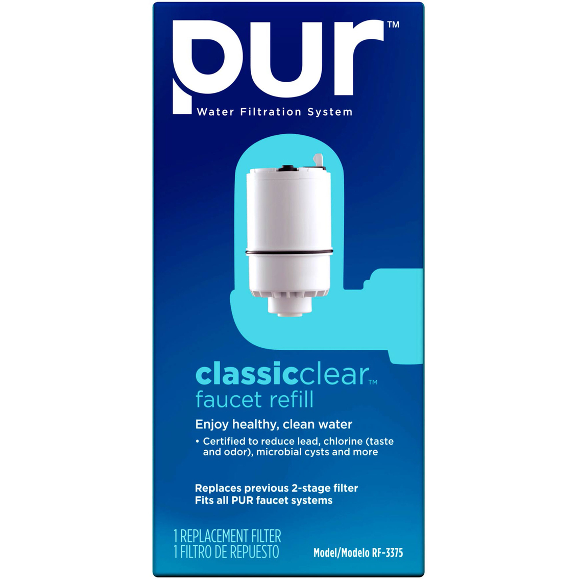 pur faucet mount water filtration system classic clear replacement filter