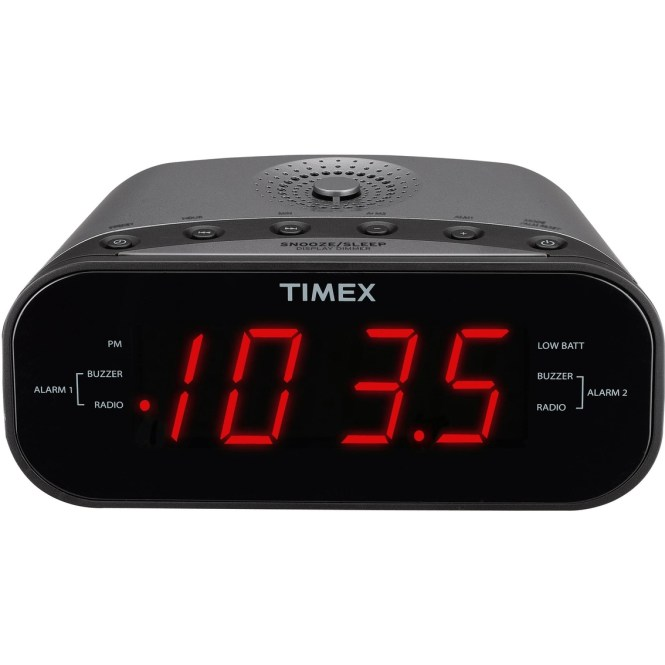 Timex Am Fm Dual Alarm Clock Radio With