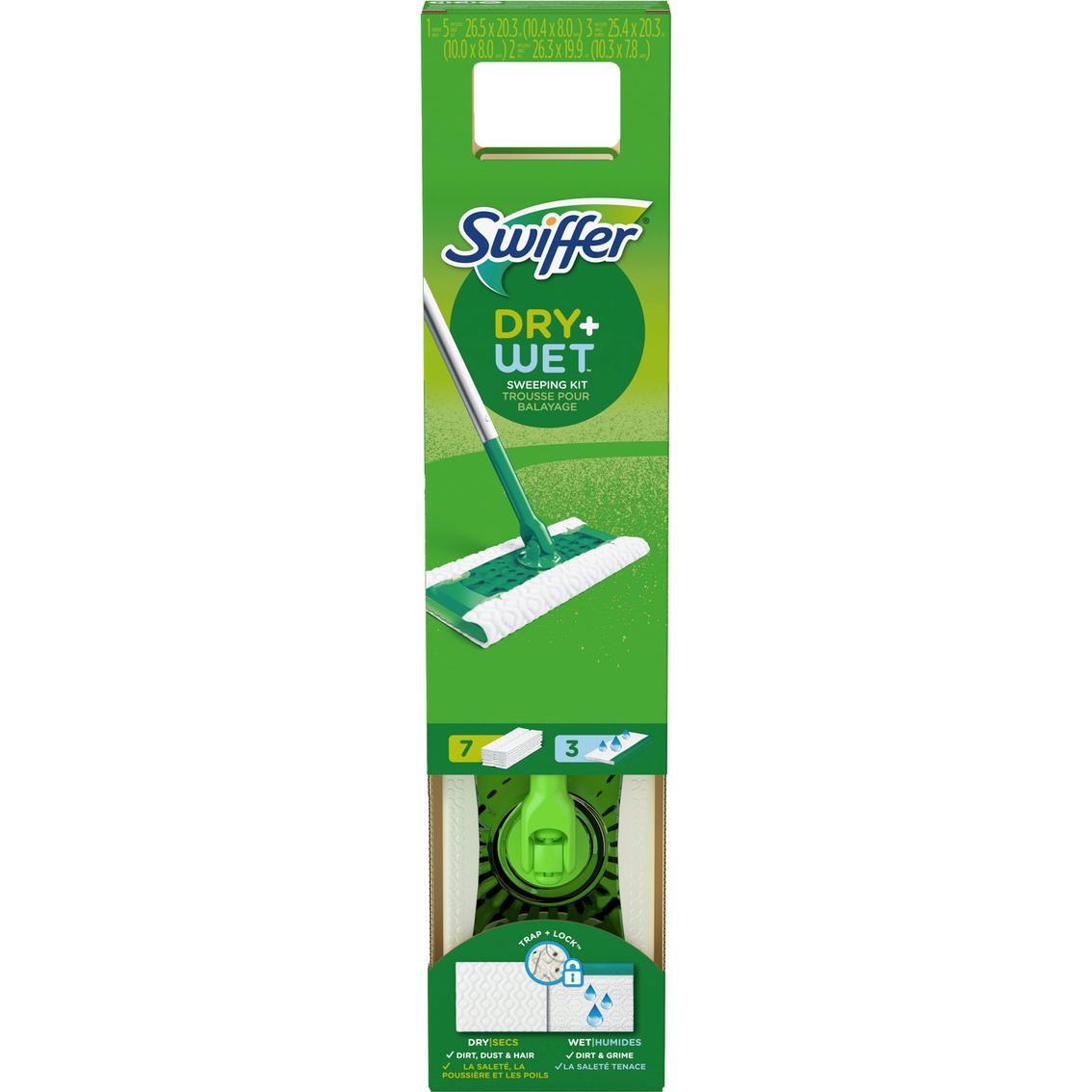 swiffer dry and wet sweeper floor mop starter kit
