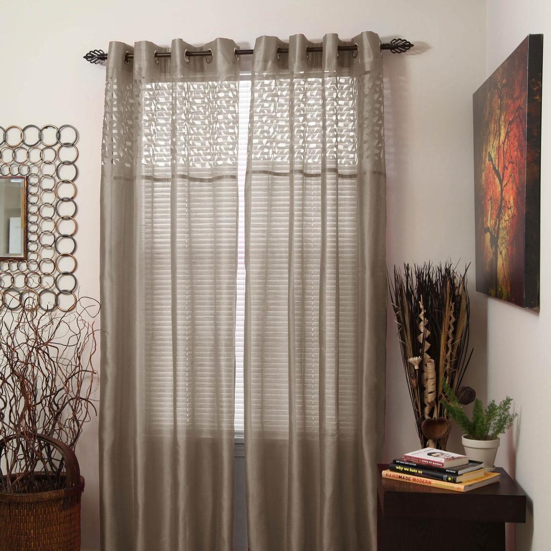 http www shopmyexchange com lavish home monica grommet curtain panels 54 x 95 taupe 7780661