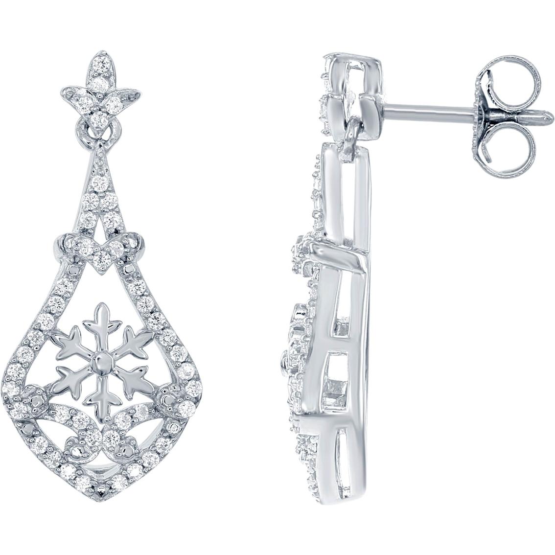 Disney Enchanted 14k White Gold 1 4 Ctw Diamond Elsa