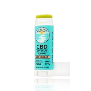 Crystal Creek Organics CBD Lip Balm Mint Chocolate