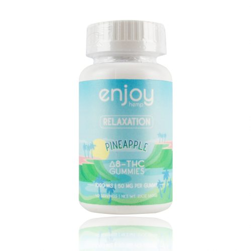 Enjoy Hemp Relaxation Pineapple Delta 8 THC Gummies 1000mg