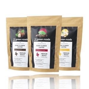 Green Roads Hemp Flower Coffee Hazelnut Founders Blend French Vanilla