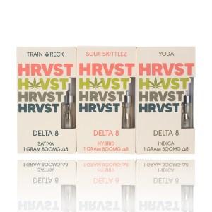 HRVST Delta 8 THC Cartridges Train Wreck Sour Skittles Yoda