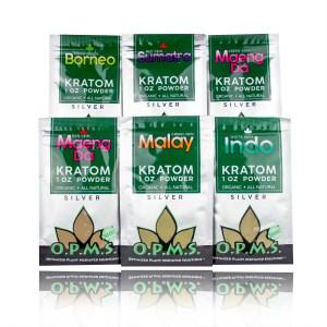 O.P.M.S. Silver Kratom Powders