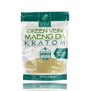Whole Herbs Kratom Powder Green Vein Maeng Da