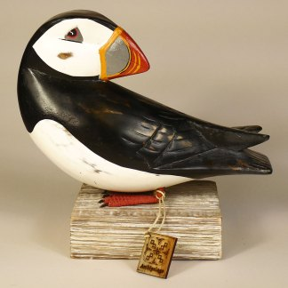 Puffin Preening Position