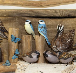 Woodland Bird Sculptures