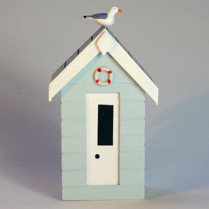 Beach Hut Money Box in Pastel Blue