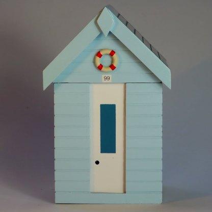 Beach Hut Storage Box in Pastel Blue