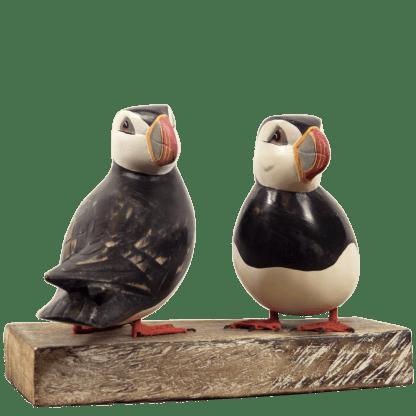 Puffin Pair Archipelago Bird Sculpture