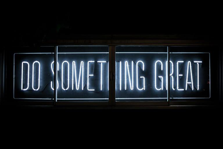 Do something great by Clark Tibbs on unsplash