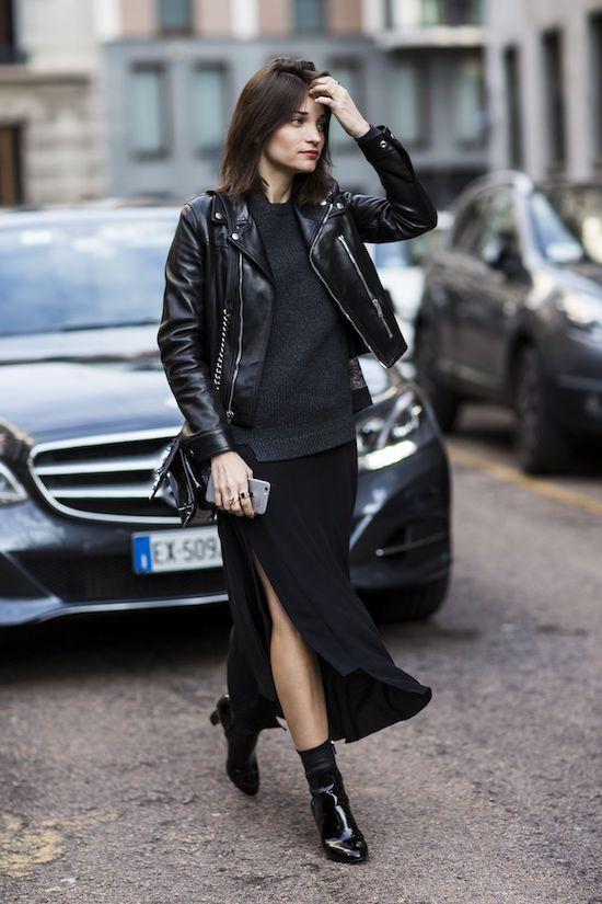 Maxiskirt Street Style Outfit Ideas