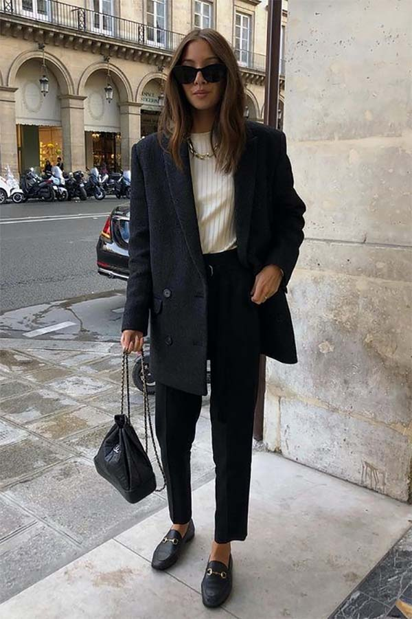 Loafers trend street style