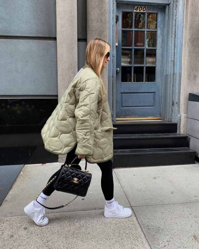 fall outfit quilted jacket