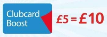 clubcard boost £5=£10