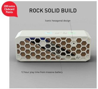 Kitsound Hive 2 White Bluetooth Wireless Portable Stereo Speaker