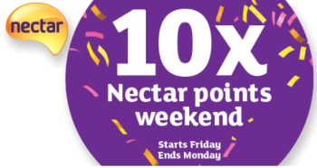 10 x nectar poins weekend sainsburys