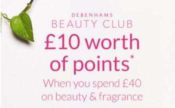 debenhams £10 points spend £40
