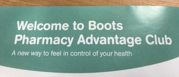 Boots Pharmacy Advantage Club Flyer 2