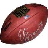 New York Giants _ Hand Autographed Eli Manning NFL Football