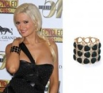 Celebrity fashion Shopping-Holly Madison wearing Glamourpuss Bangle