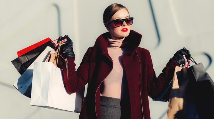shopaholic lady