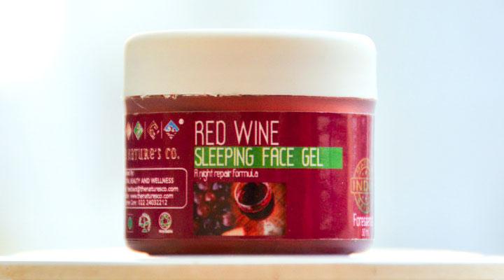 Red Wine sleeping face gel review