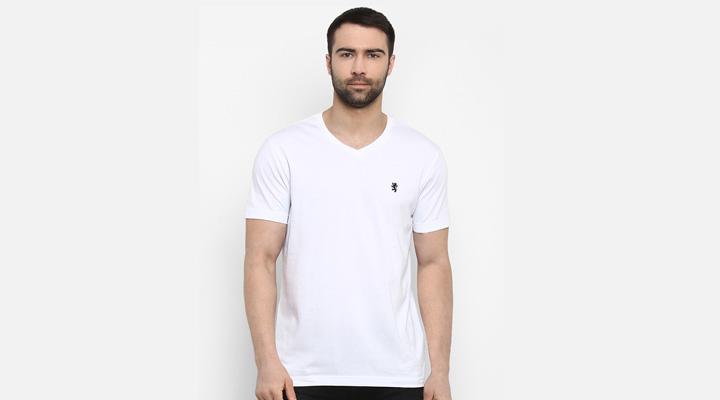 best v neck white t-shirt for men