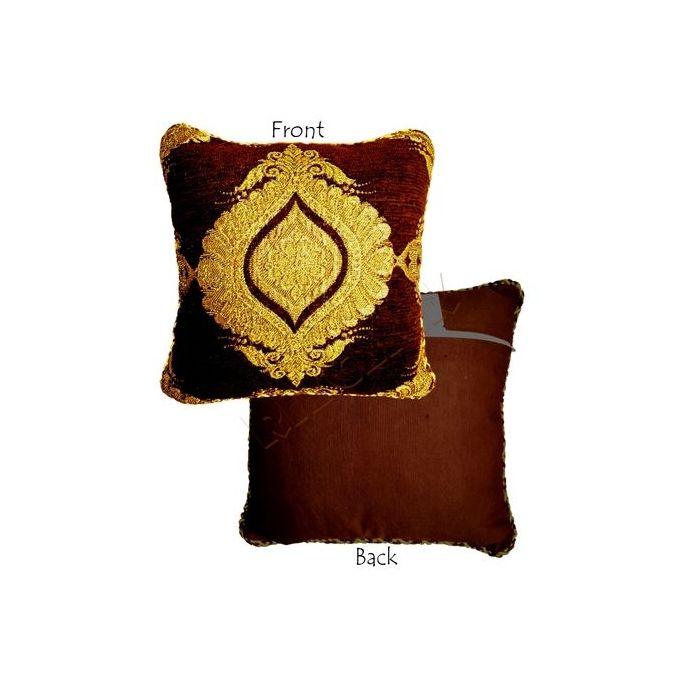 Buy Square Sofa Cushion Brown Amp Golden Cush Arm Emb 04