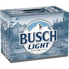 anheuser busch busch light 30 pack 12oz cans 1 case